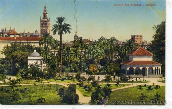 View of Seville - Alcazar Gardens