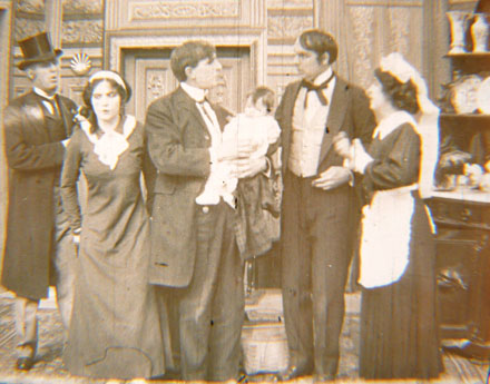 Romaine Fielding in the center of the cast of Mixed Pets
