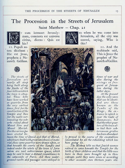 A page from the Tissot Bible, an Image Alice Guy imitated closely in her film, La Vie du Christ