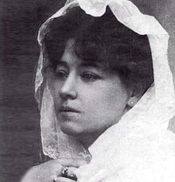 Alice Guy Blache at her wedding