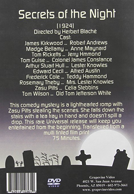 Cast Credits for Secrets of the Night