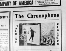 Chronophone newspaper ad