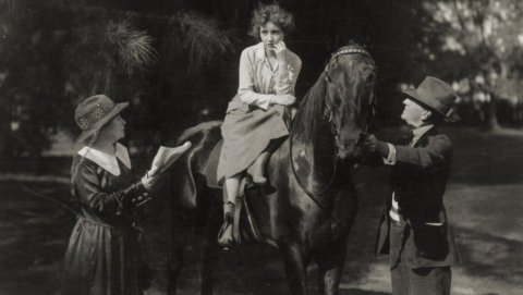 Alice Guy directs Bessie Love in Her Great Adventure